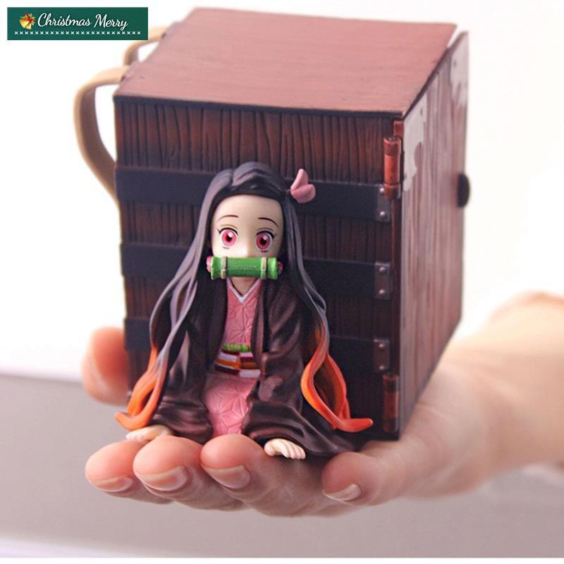 จัดส่งได้ทันที🔥ถูกและดีAnime Figure Nezuko Demon Slayer PVC Lying Position with Box Action Collectible Model Toys Doll1