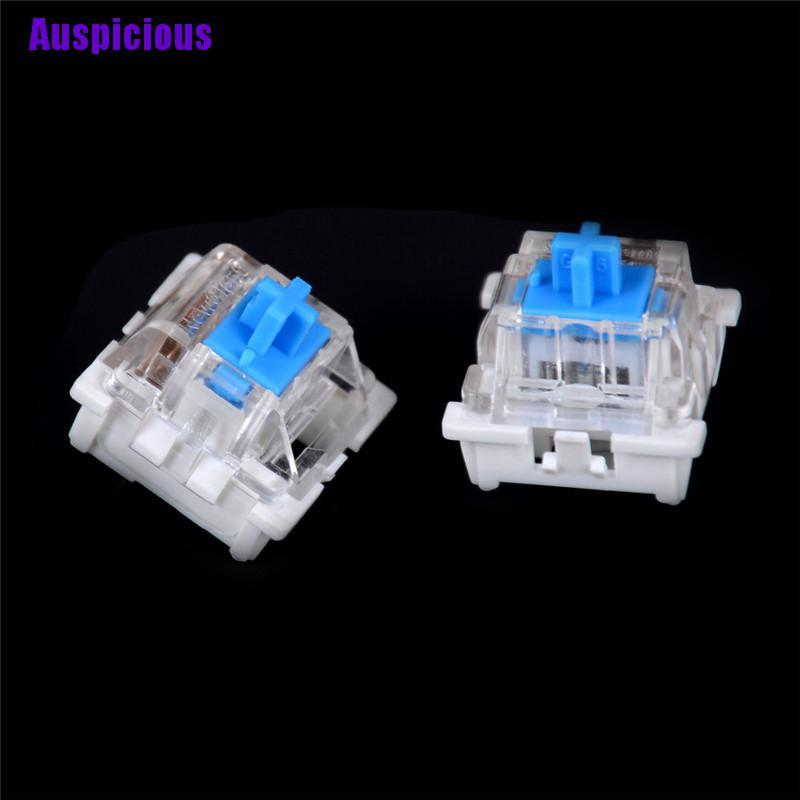 Auspicious- 10Pcs Mechanical Keyboard Switch Blue For Cherry Mx Keyboard Tester Parts