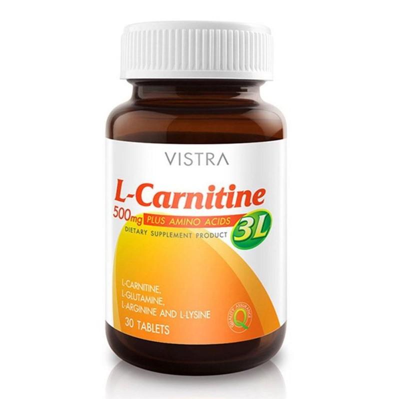 Vistra L-Carnitine Plus 3L 500mg 30/60 เม็ด วิสทร้า แอล-คาร์นิทีน พลัส | Shopee Thailand