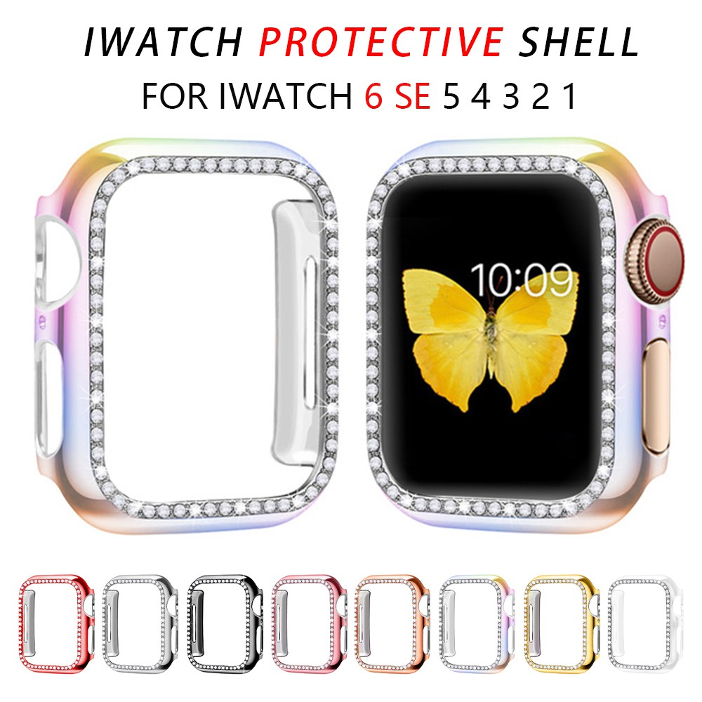 Diamond Bumper Protective Case for Apple Watch Cover Series 6 SE 5 4 3 2 1 38MM 42MM Cases For Iwatch 5 4 40mm 44mm watch accessorie