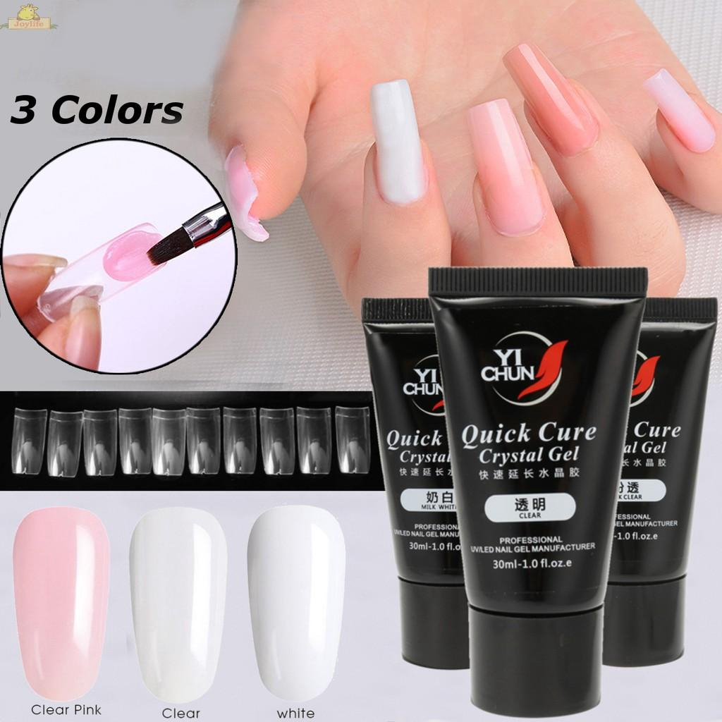 30ml Pink Nail Poly Gel UV Gel Polish Quick Building Extension Builder Gel UV | Shopee Thailand