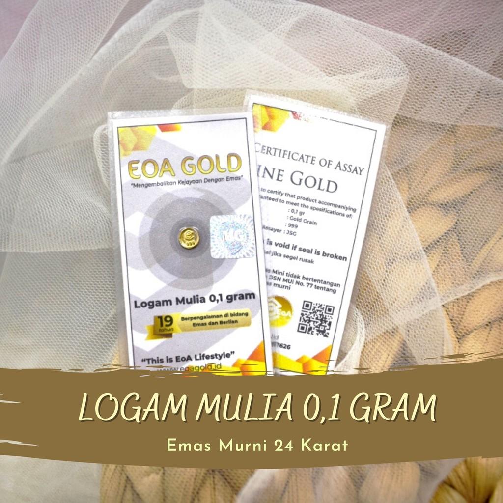 Noble โลหะบูติก / ทอง Antam Eoa Cilacap / ราคาโลหะ 0.1 กรัม Eoa สีทอง