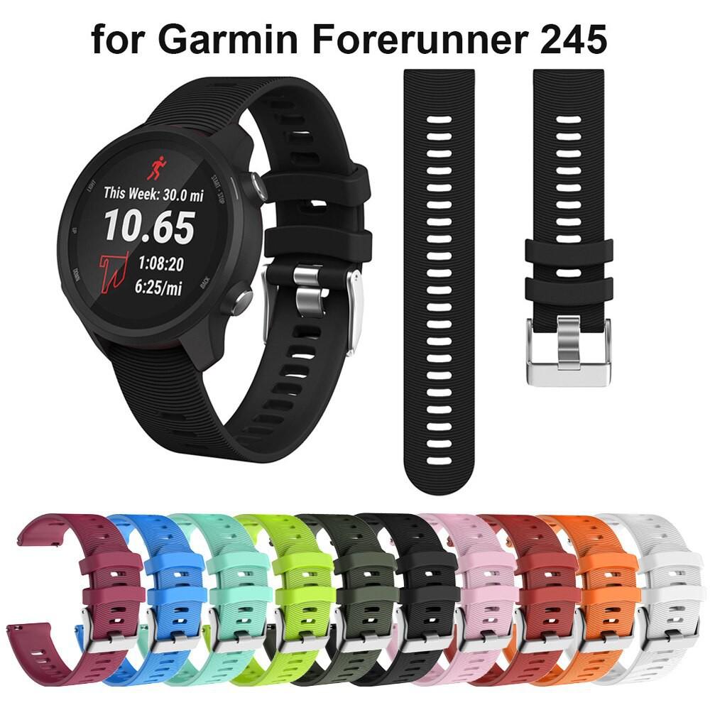 สาย applewatch สาย applewatch แท้ [พร้อมส่ง] สายนาฬิกาซิลิโคนสำหรับ Garmin Forerunner 245 / 245M / 645 / 645M / Vivoacti