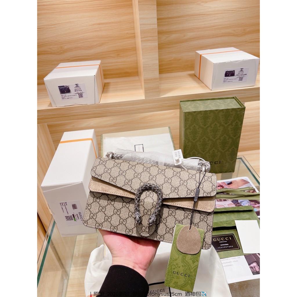 กระเป๋าของแท้Original Gucci Dionysus New 2020 Snake Head Single Layer Bacchus Bag Women Bags Shoulder Bag