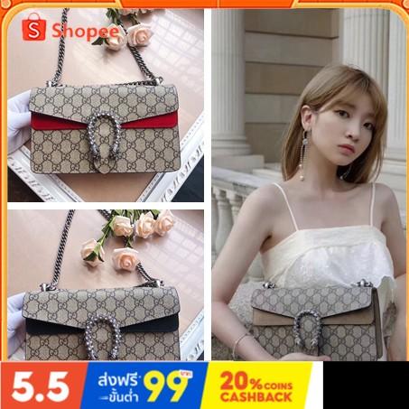 Spot กระเป๋าสะพาย Gucci Dionysus 2021 ใหม่ของแท้ 100% กระเป๋าสะพายข้างผู้หญิงแฟชั่น