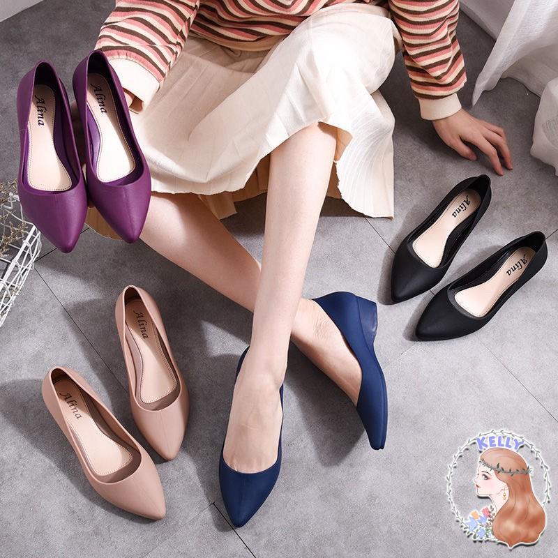 รองเท้าแฟชั่นยอดฮิต รองเท้าคัชชู รองเท้าทำงาน รองเท้าผู้หญิง รองเท้าแฟชั่น รองเท้าสวม รองเท้าใส่สบายนิ่มเท้า T12