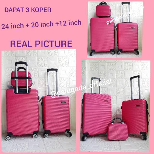 กระเป๋าเดินทาง (can Be 3 Luggages) Abs 010 24 นิ้ว + เคส 20 นิ้วเคส 12 นิ้ว