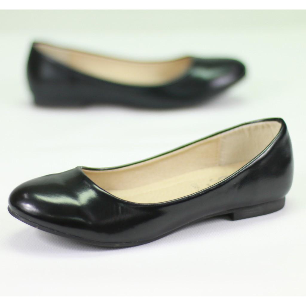 รองเท้าคัชชู⌵รองเท้าสลิปออนผู้หญิง รองเท้า 1338-C1,C1A,C1B  รองเท้าคัชชูนักศึกษา  รองเท้าคัชชูส้นแบน  สีดำ FAIRY รุ่น 13