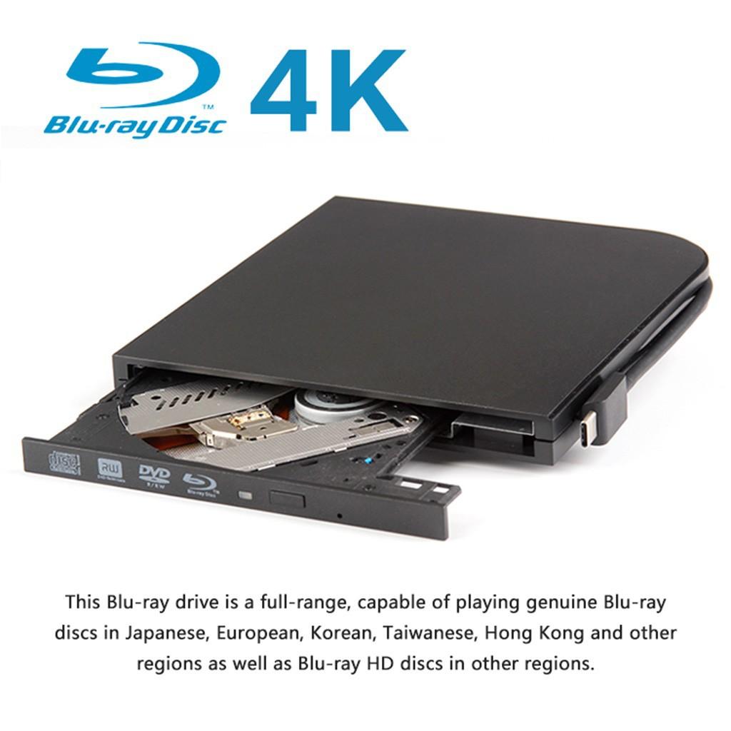 Maikou External Dual อินเตอร์เฟส Usb + Type - C Blu - Ray Burner สําหรับเครื่องเล่น Cd Dvd Blu - Ray Drive