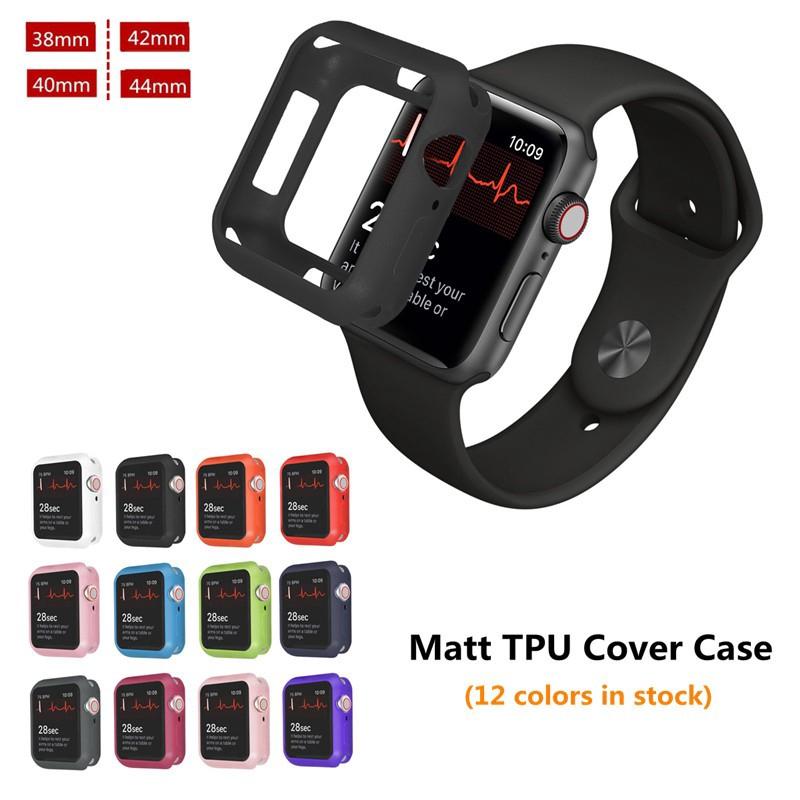 Apple Watch 4/3/2/1 Case Matt Soft TPU Shockproof Cover for iWatch 38mm 40mm 42mm 44mm