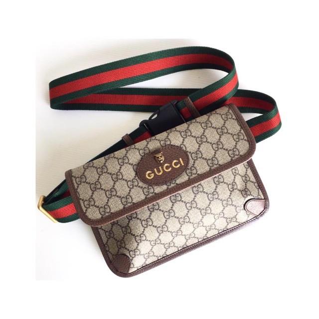 New! Gucci GG Supreme Belt bag ปี19ของแท้ 100%