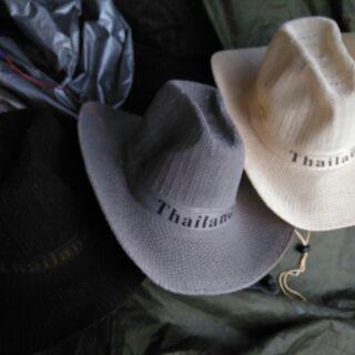 (เก็บปลายทาง)หมวกคาวบอยthailandสามสีสามสไตล์