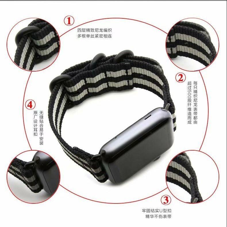 สาย applewatch Suitable for Apple Watch 5th generation iwatchse strap female Applewatch6 strap creative nylon braided st