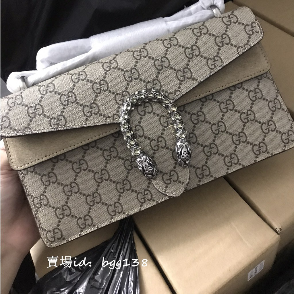 [Global Shopping] US Direct Mail Gucci Bags Dionysus GG Tiger Head Chain Bag Small Shoulder Bag Cros