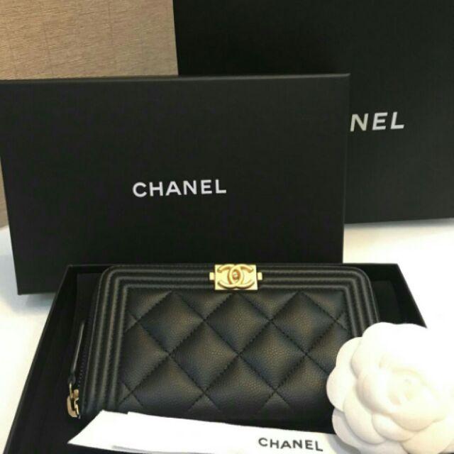 ขาย New  Chanel boy zippy wallet size  medium