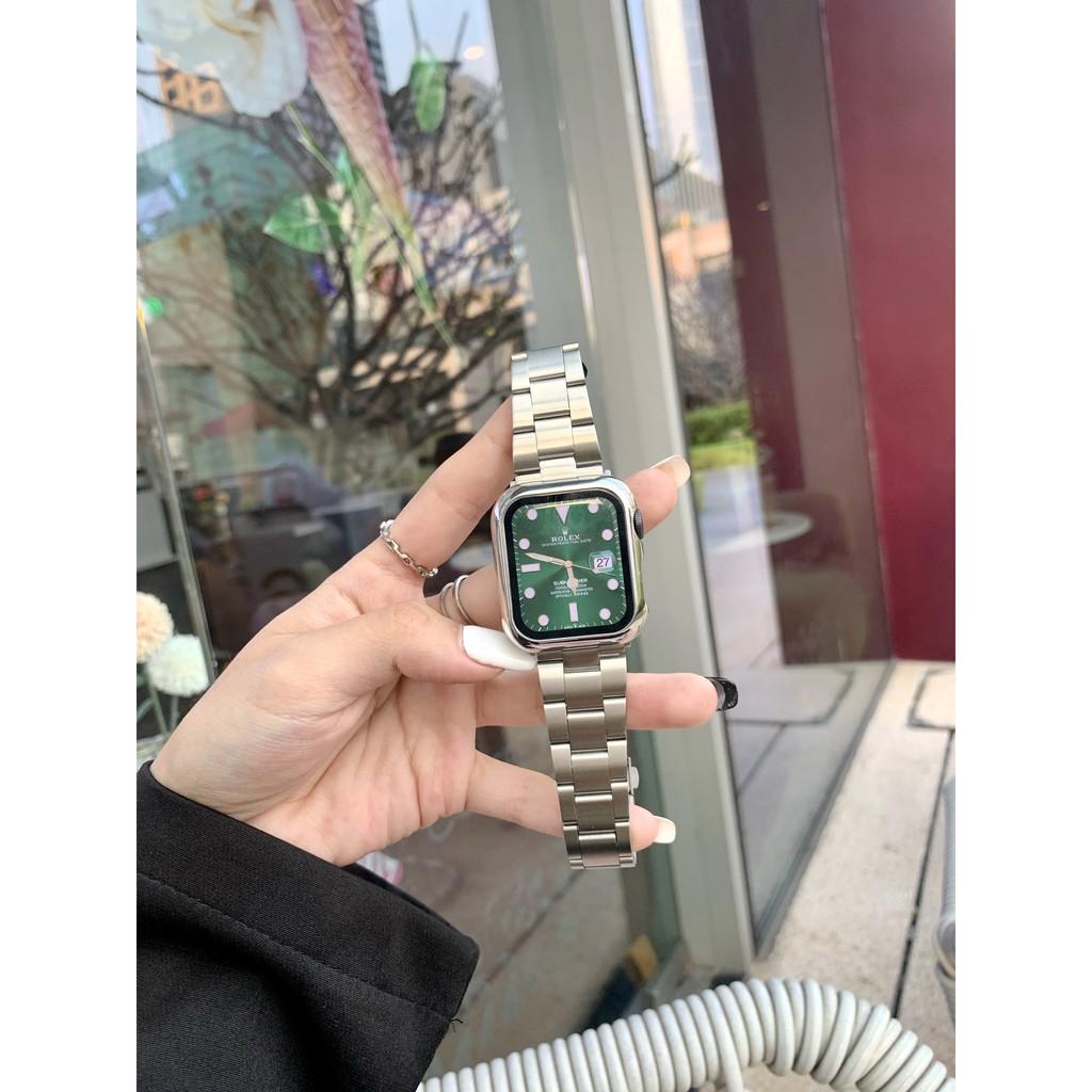 เคสนาฬิกา applewatchบังคับแอปเปิ้ลapplewatchนาฬิกาiwatch123456seรุ่นธุรกิจสแตนเลสโลหะชายและหญิงapplewatch