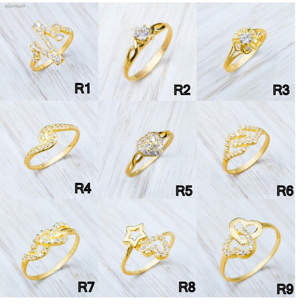ราคาต่ำสุด♙⭐️ แหวนทองเพชรรัสเซีย น้ำหนักครึ่งสลึง [มีหลายแบบให้เลือก][ผ่อนได้]