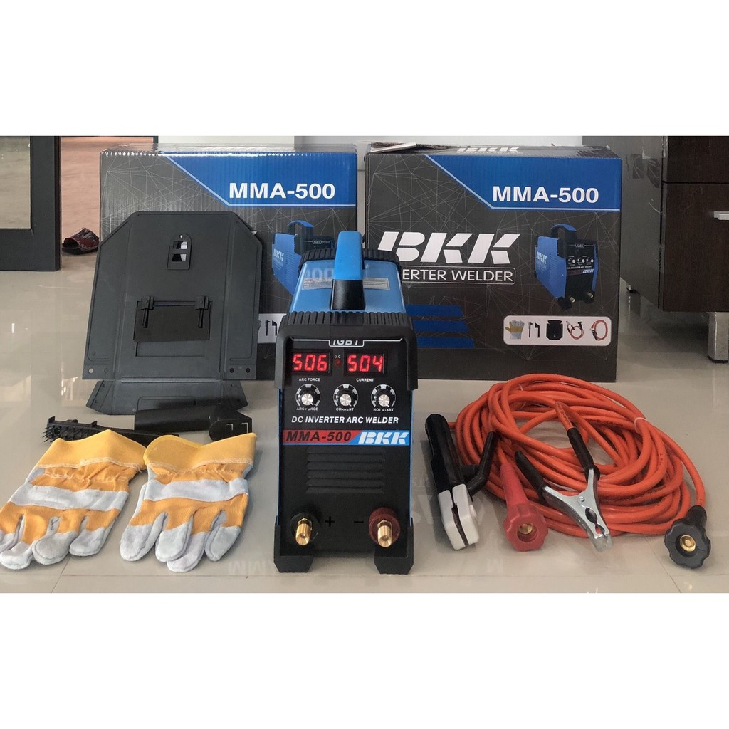 ส่งฟรี / ตู้เชื่อม BKK MMA 500 จอดิจิตอล 3 ปุ่มปรับ พร้อมสายเชื่อมยาว 10 เมตร