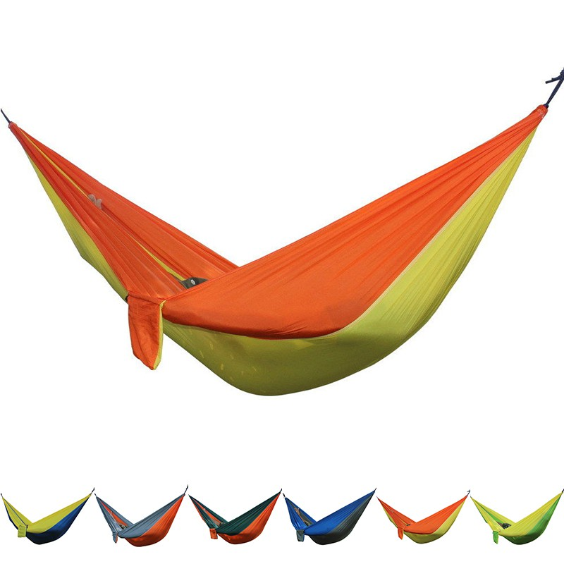 Portable Double Person Parachute Hammock Outdoor Travel Camping Swing HangingBed