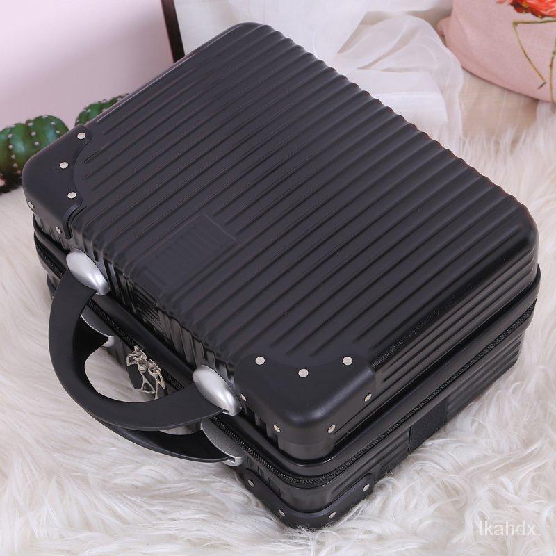 """กระเป๋าเดินทางขนาดเล็กที่มีน้ำหนักเบา16""""น่ารัก14ถุงเก็บแบบพกพามินิกรณีเครื่องสำอางกล่องนิ้วกระเป๋าเดินทางขนาดเล็กหญิง ri"""