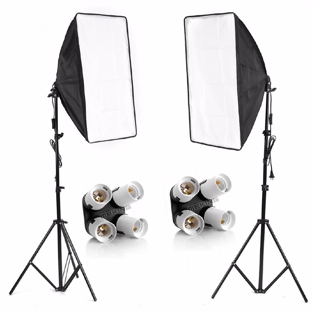 Studio Lighting Kit 4 Socket E27 Holder