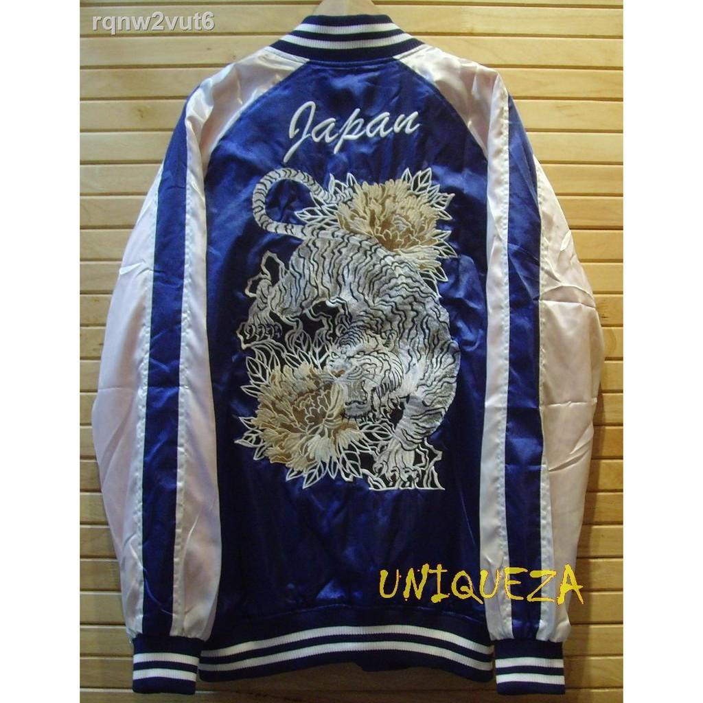 🔥มีของพร้อมส่ง🔥ลดราคา🔥♂✹□เสื้อแจ็คเก็ตแจ็คเก็ตตากล้องซูกาจัน Sukajan Japan Tiger Embroidered Embroidery Jacket ปัก