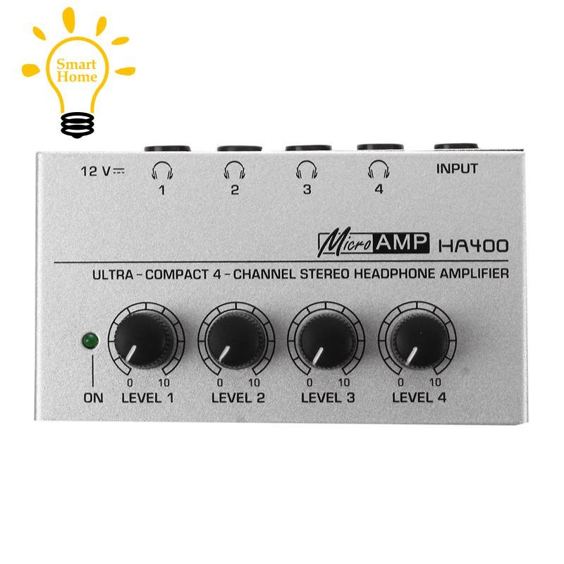 『★』HA400 4 Channel Ultra-compact Headphone Audio Stereo Amp Microamp  Amplifier