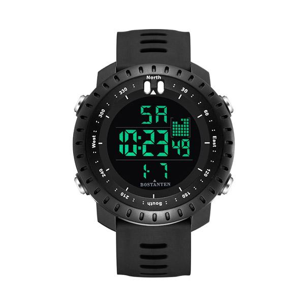 Bostanten นาฬิกาข้อมือดิจิตอล กันน้ำ สำหรับผู้ชาย 1 ชิ้น