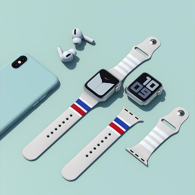 Applewatch สายนาฬิกาข้อมือพิมพ์ลายสําหรับ Applewatch