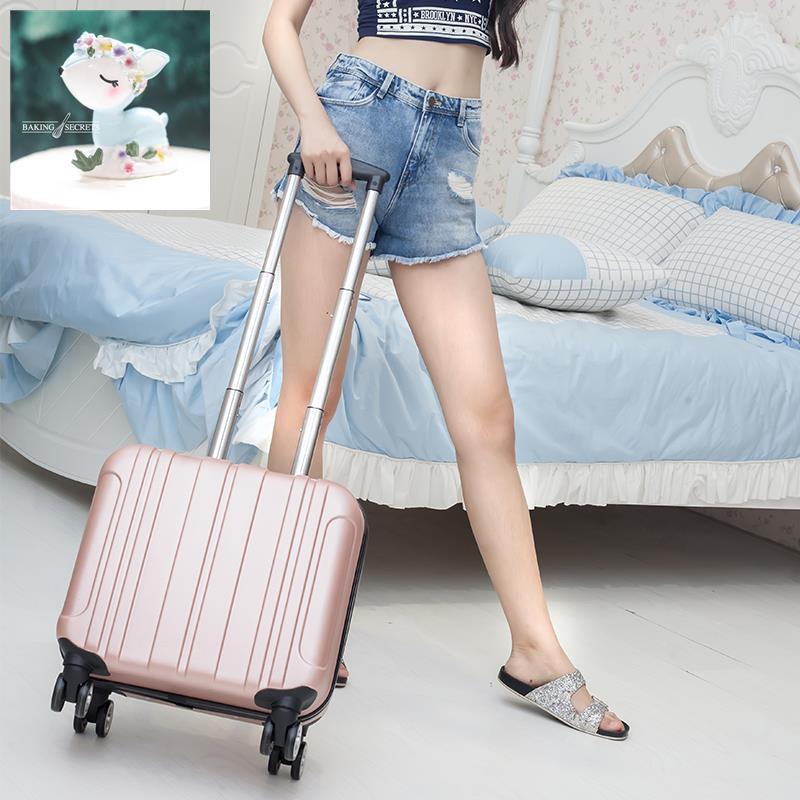 กระเป๋าเดินทางมินิกระเป๋าเดินทางหญิงขนาดเล็ก 18 นิ้วกระเป๋าเดินทางรถเข็นกระเป๋าเดินทางระยะสั้นน้ำหนักเบา 16 นิ้วกล่องรห