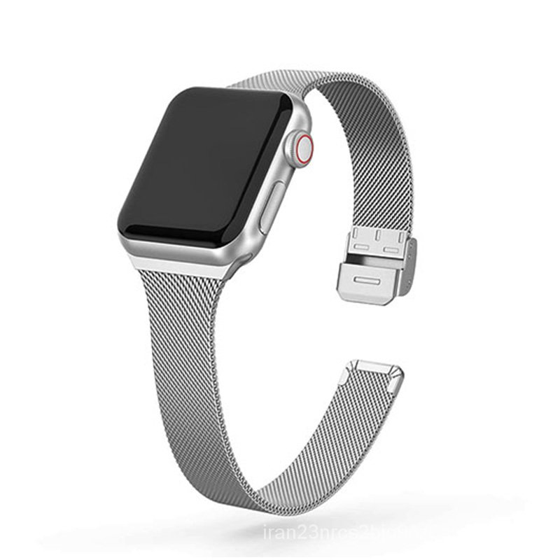Stainless Steel Metal Watch Band for apple watch 44mm 40mm 38mm 42mm Series 6 5 4 SE Slim Strap for iWatch iWatch  3 2 1