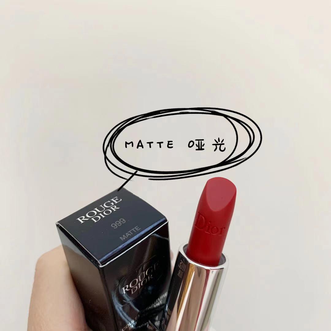 ☭⅝💯 🔥ลิปสติกเนื้อลิขวิดให้ความชุ่มชื้นกันน้ําติดทนนาน 1 ชิ้น🔥.💯Dior Dior Lipstick Lipstick 999 Moisturizing Matte Co