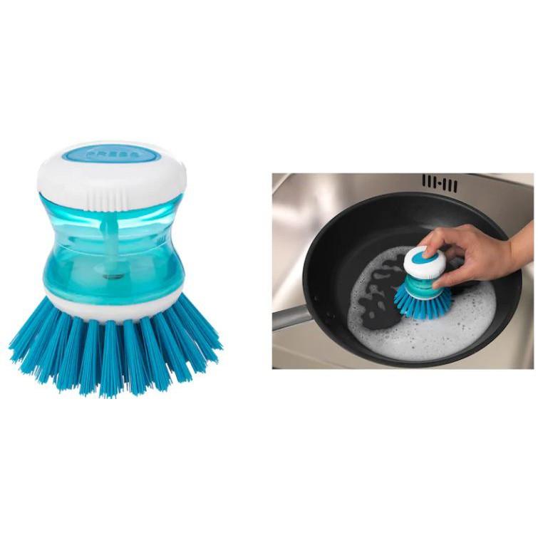 เเปรงล้างจานพร้อมที่ใส่น้ำยาล้างจาน