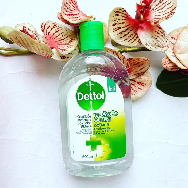 500 ml. Dettol เจลล้างมืออนามัย ออริจินัล ออนตี้แบคทีเรีย Gel Alcohol