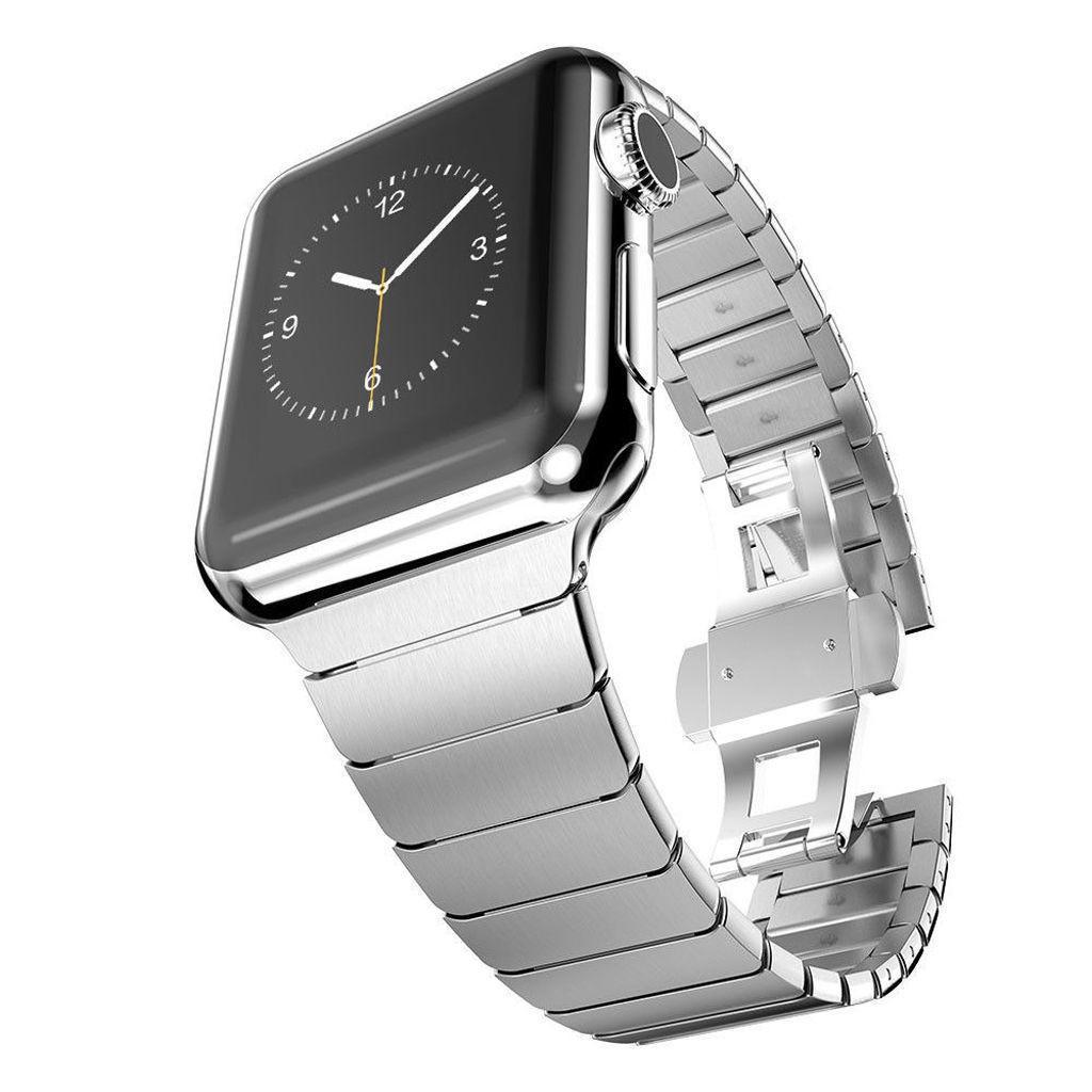 สายนาฬิกา Apple สาย Applewatch 1/2/3/4/5/6 / SE รุ่นอุปกรณ์เสริมสายโลหะสแตนเลส