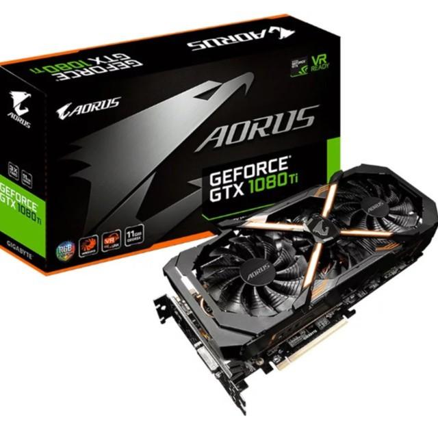 การ์ดจอGIGABYTE AORUS GeForce GTX 1080 Ti 11G   ครบกล่อง