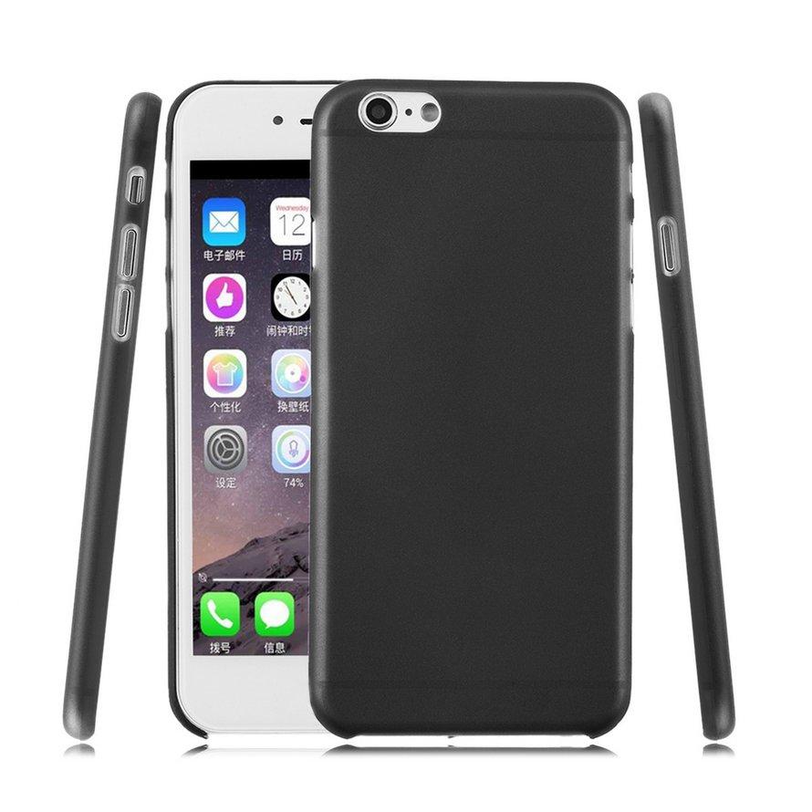 """( 0504 ) เคสแข็งสีด ําใสแบบบางพิเศษสําหรับ Apple Iphone 6 4 . 7 """""""