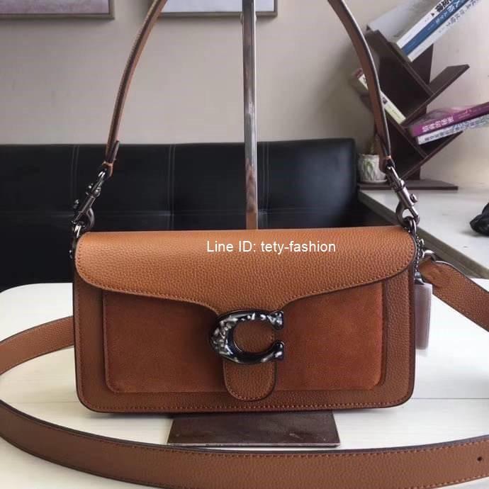 กระเป๋าสะพายข้างสีน้ำตาล Coach tabby convenience shoulder bag crossbody