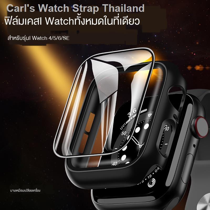 band สาย┅เคสป้องกัน Apple Watch iwatch6 / se ฝาครอบป้องกัน 5/4/3/2/1 เปลือกฟิล์มในตัว applewatch ฝาครอบนาฬิกา series4