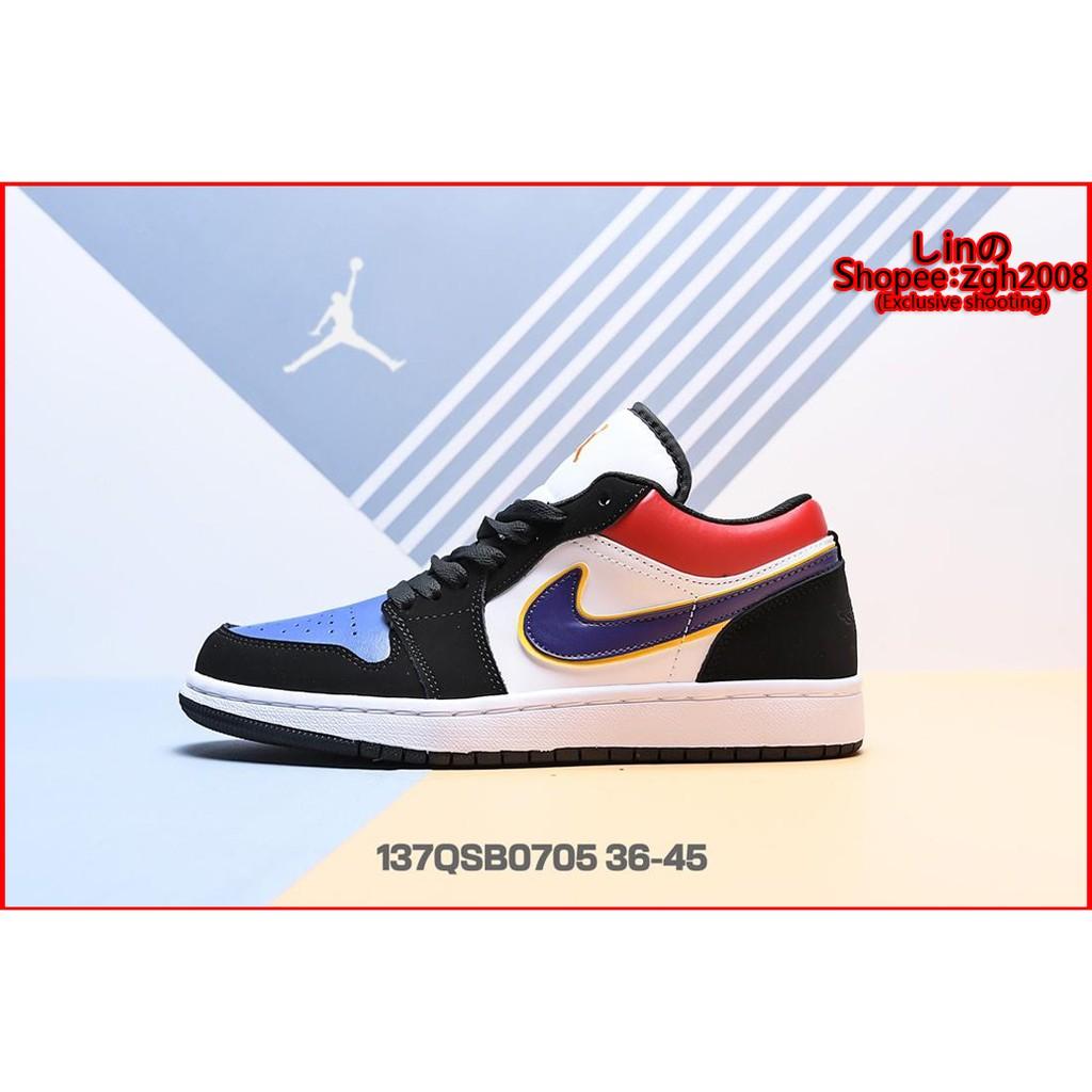 tani sprawdzić klasyczne dopasowanie Nike Air Jordan 1 Low AJ1 เพศชาย / หญิง รองเท้าลำลอง รองเท้าผ้าใบ Size:36-45