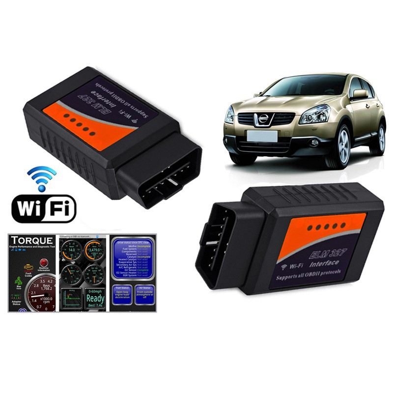 Mini ELM327 Wi-Fi OBD2 OBDII WiFi For iPhone Android PC Car Diagnostic Scanner