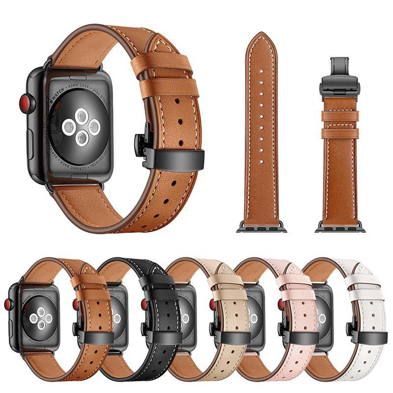 สายนาฬิกาข้อมือหนังแท้ Applewatch 5 ขนาด 42 มม. 38 Se