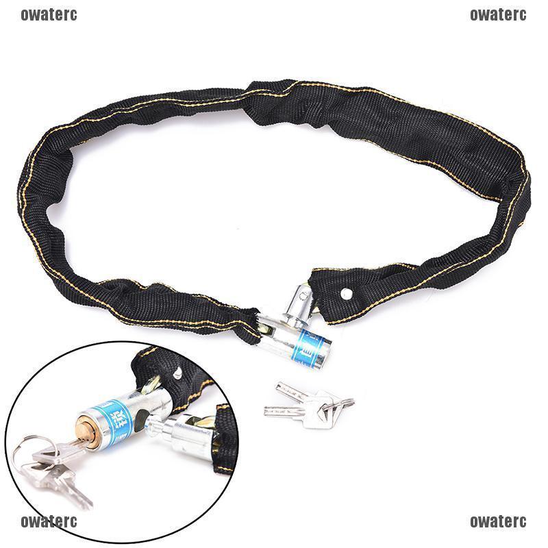 Reinforced Metal Bicycle Chain Lock+3 Keys Heavy Motorbike//Motorcycle//Bike lock