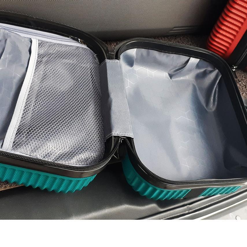 กระเป๋าเดินทาง Code-770 Abs 007 (can 3 ชิ้น) 24 นิ้ว + 20 นิ้วเคสไฟเบอร์ความงาม 12 นิ้ว