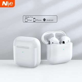 Niye Bluetooth Earphone Inpods 2020 New Mini Pro4 Earbuds TWS Bluetooth 5.0 HIFI Noise Reduction Headphone with Wireless Charging Box Support IOS and Android