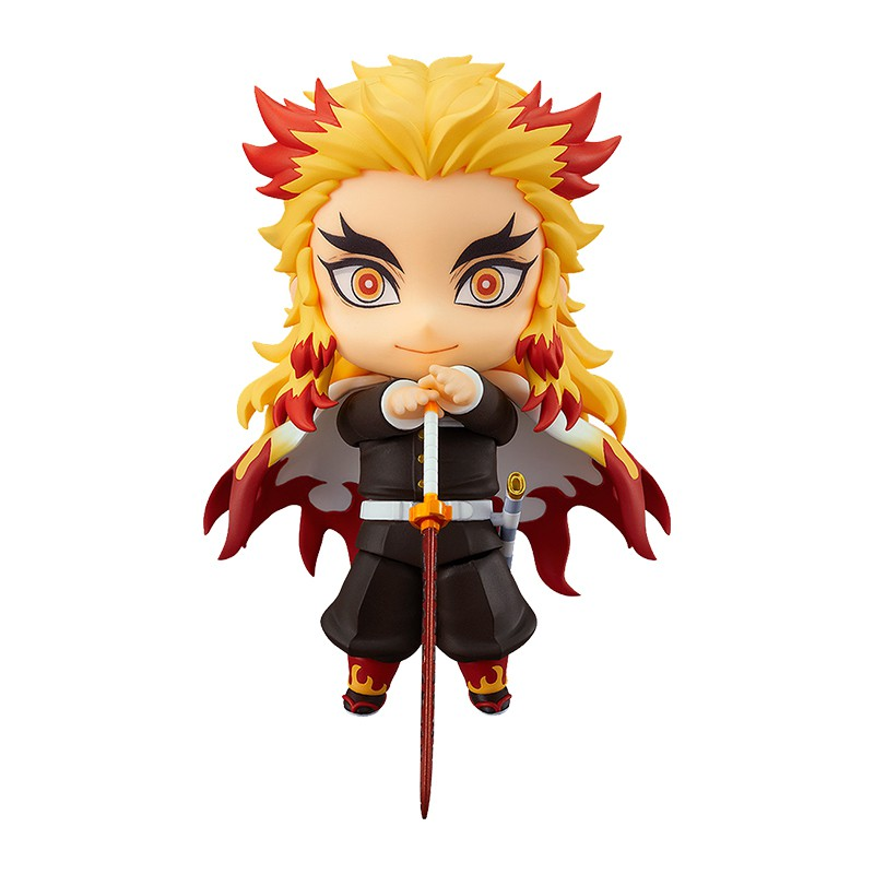 reSale Demon Slayer Rengoku Kyoujurou Anime Figures Model Jaan Anime Toys Collectibles Model Toys Q Version Figure Model