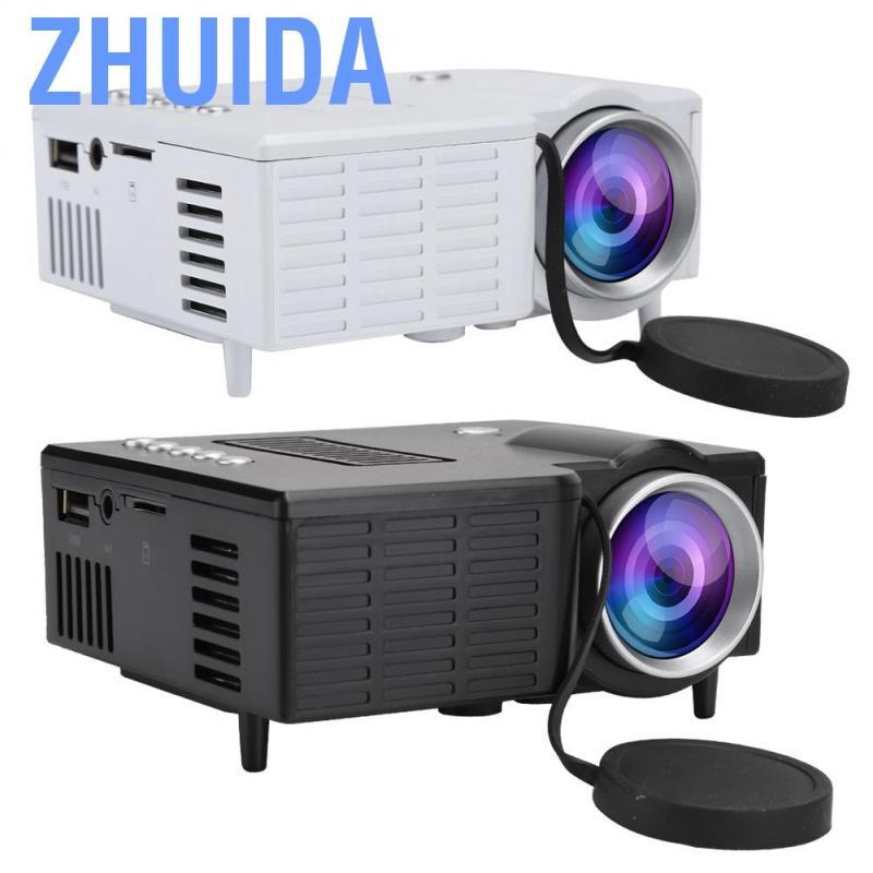 Zhuida Ashata Hd Tv โปรเจคเตอร์ขนาดเล็กแบบพกพาพร้อมพัดลม + หม้อน้ํา