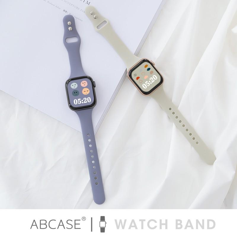 Abcase เคสนาฬิกาข้อมือซิลิโคนสําหรับ Iwatch6 Applewatch5 / 4 / 3 / Se