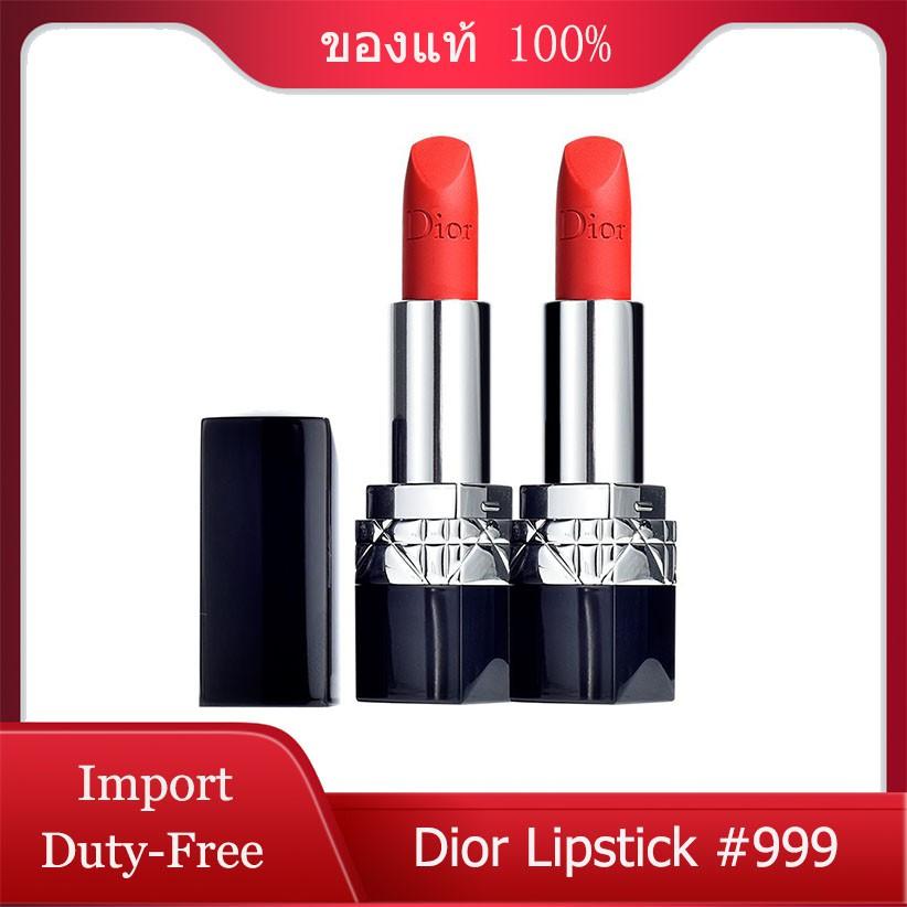(การันตีของแท้💯%) Dior Matte Lipstick Couture Colour Comfort & Wear Lipstick 999 ลิปสติกดิออร์【จัดส่งภายใน 24 ชั่วโมง】