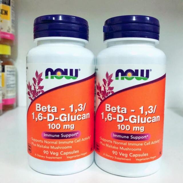 🇺🇸Now foods เบต้า-กูลแคน, Beta-1,3/1,6-D-Glucan ขนาดบรรจุ 90 แคปซูล